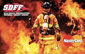 San Diego Firefighters Federal Credit union. MasterCard Ad